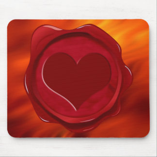 WAX SEAL HEART MOUSE PAD