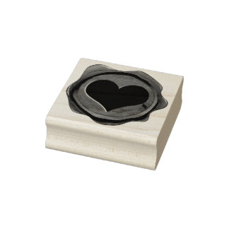 Wax Seal HEART + your ideas Rubber Stamp