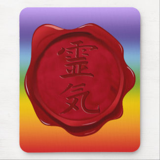 wax seal - REIKI | chakren colors Mousepads