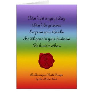 wax seal - REIKI & Precepts | chakren colors Card