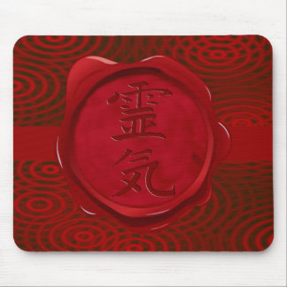 wax seal - REIKI | red rings Mouse Pad