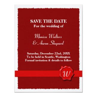 Wax Seal Save The Date 11 Cm X 14 Cm Invitation Card