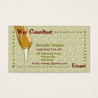 Waxing Business Card
