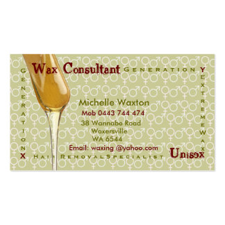 Waxing Business Card