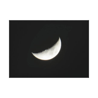 Waxing Crescent Moon Gallery Wrap Canvas