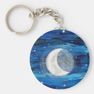 Waxing Crescent Moon Keychain