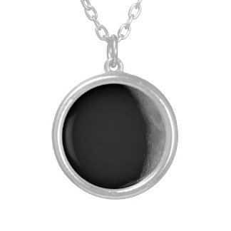 Waxing Crescent moon phase necklace