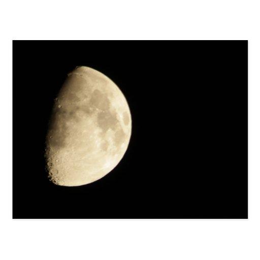Waxing Gibbous Moon #3 Post Card