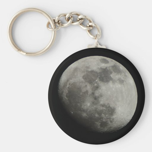 Waxing Gibbous Moon Key Chains