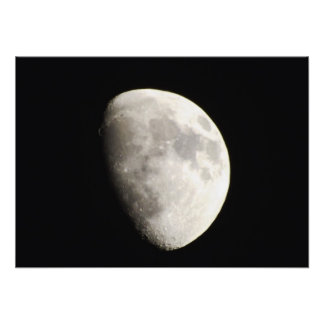 Waxing Gibbous Moon over Warren Vermont Photographic Print