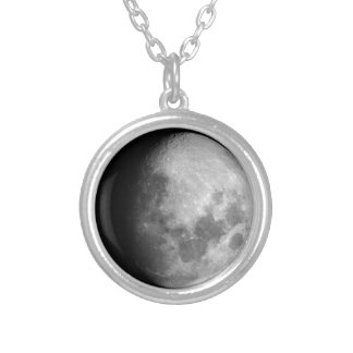 waxing Gibbous moon phase necklace