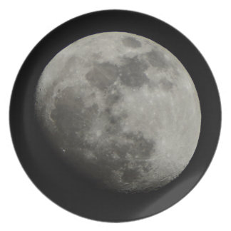 Waxing Gibbous Moon Dinner Plates