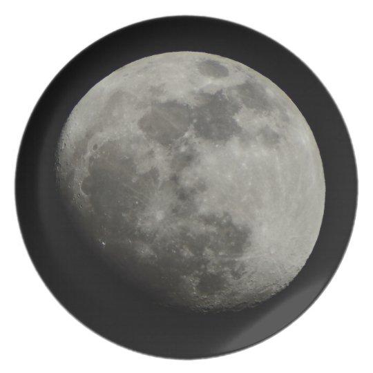 Waxing Gibbous Moon Plate