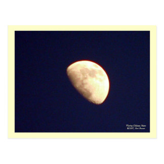 Waxing Gibbous Moon Postcard