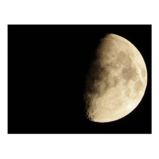 Waxing Gibbous Moon Postcards