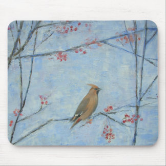 Waxwing 2013 oil on canvas mouse mat