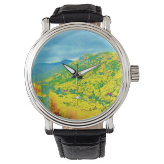 Way Above The Mountains Air Brushed Wrist Watch