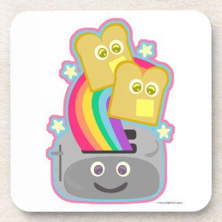 Way Cute Kawaii Rainbow Toast Drink Coaster