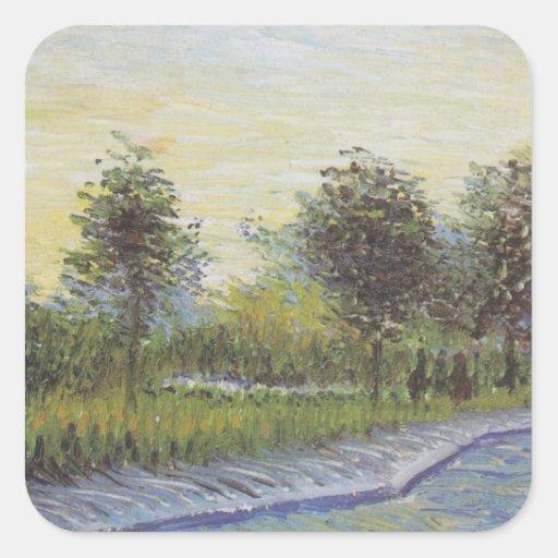 Way in the Voyer d'Argenson Park - Van Gogh (1887) Sticker
