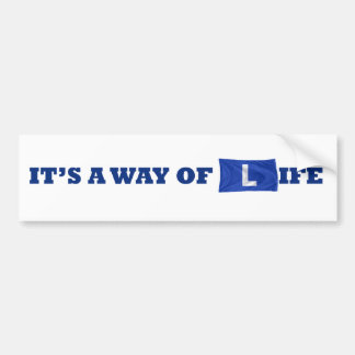 way of life bumper sticker