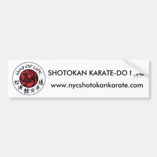 Way Of Life Shotokan Bumper Sticker Car Bumper Sticker