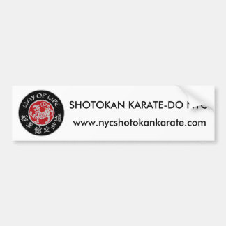 Way Of Life Shotokan Dark Logo Bumper Sticker