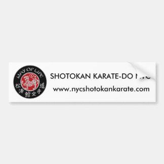 Way Of Life Shotokan Dark Logo Bumper Sticker Car Bumper Sticker