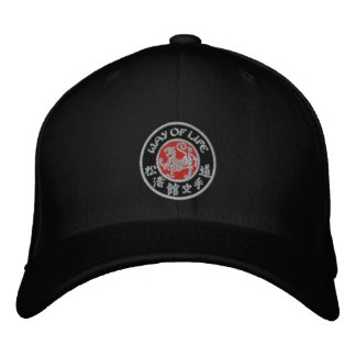 Way Of Life Shotokan Dark Logo Flex Fit Cap Embroidered Hats