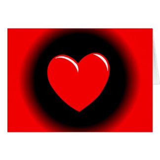 Way Out Red & Black Heart Greeting Card