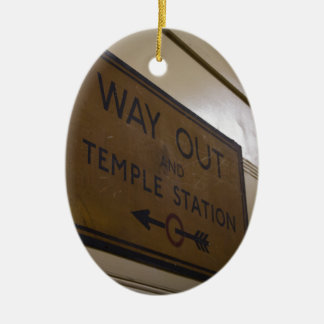 Way Out - Temple Station Ceramic Oval Decoration