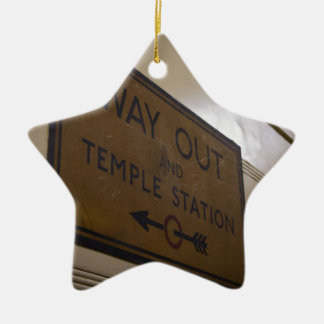 Way Out - Temple Station Ceramic Star Decoration