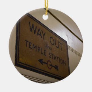 Way Out - Temple Station Christmas Ornament