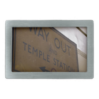 Way Out - Temple Station Rectangular Belt Buckles