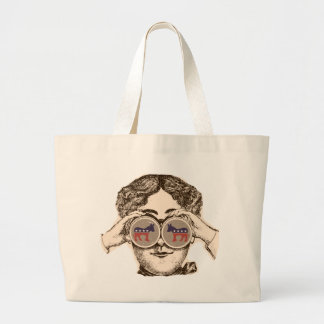 Way She Sees It - Democrat Jumbo Tote Bag