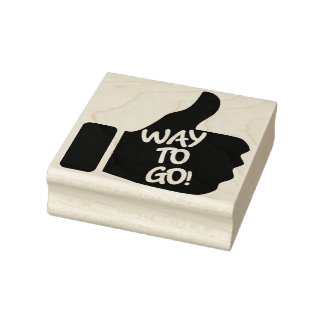 """""""Way To Go!"""" Thumbs Up Rubber Art Stamp"""