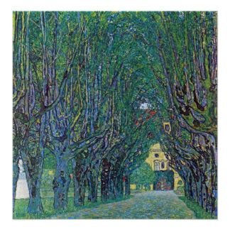 Way to the Park by Gustav Klimt Poster
