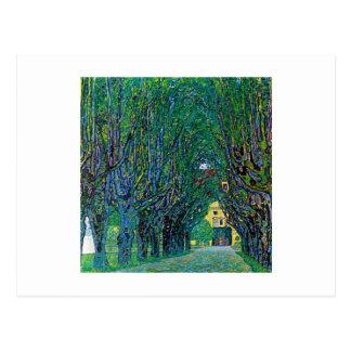 Way to the park Klimt art avenue in schloss kammer Postcard