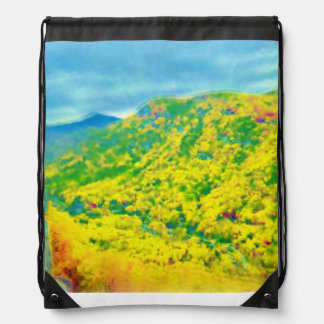 Way Up in the Mountains Air Brushed Backpack