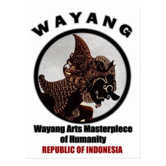 Wayang Arts Masterpiece Of Humanity Post Cards