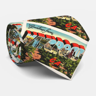 Waycross Georgia GA Old Vintage Travel Souvenir Tie