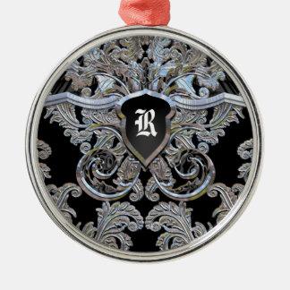 Waydhill Exquisite Victorian Monogram Christmas Ornament