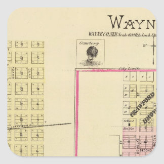 Wayne, Nebraska Square Sticker