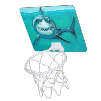 """Wayne"" The Great White Shark Mini Basketball Hoop"