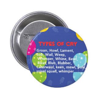 Ways to Cry 6 Cm Round Badge