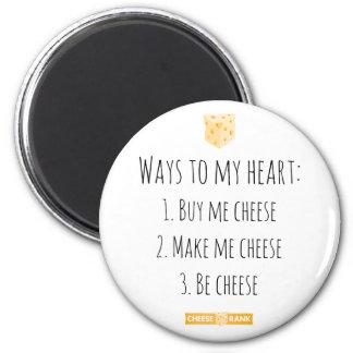 Ways to my heart. 6 cm round magnet