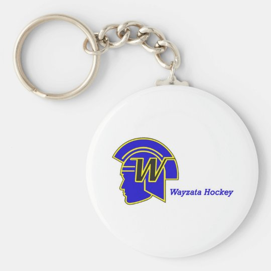 Wayzata Hockey Basic Round Button Key Ring