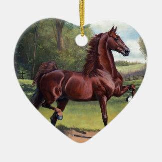 WC Merchant Prince by Jeanne Newton Schoborg Ceramic Heart Decoration