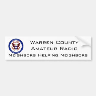 WC RACES RADIO BUMPER STICKER