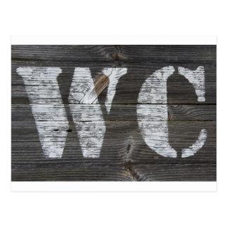 WC sign Postcard