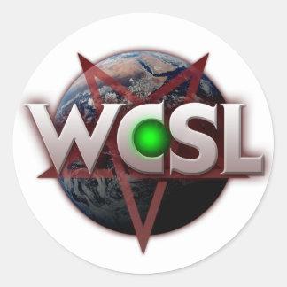 WCSL green orb logo stickers